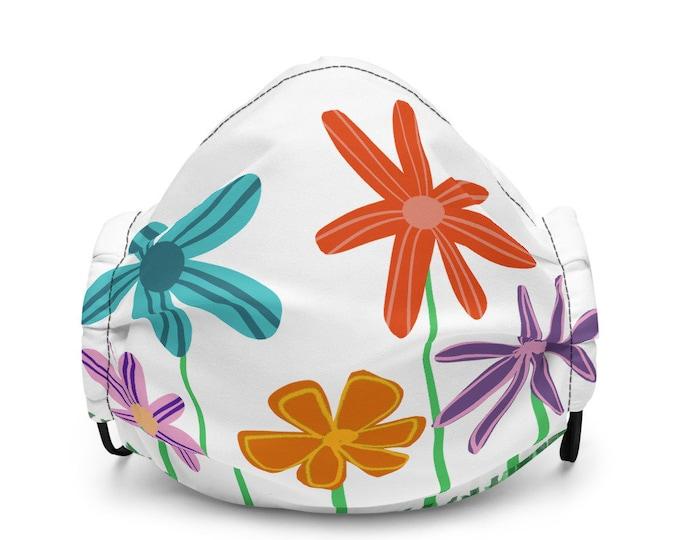 Floral Charm Premium Face Mask