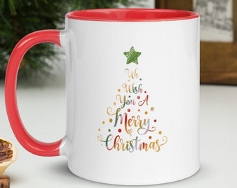 Multicolored 11oz Christmas Tree Mug with Color Inside