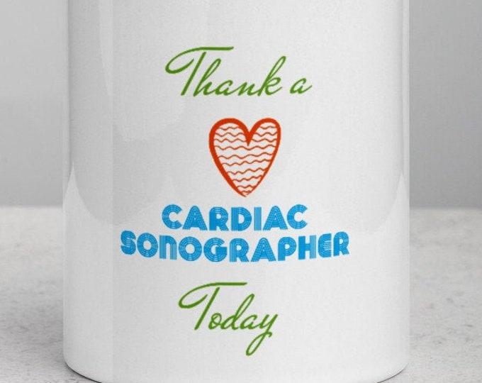 Cardiac Sonography- Mug with Color Inside