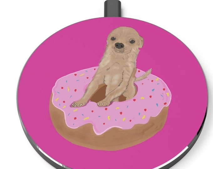 Chihuahua Donut Wireless Charger