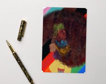 Naturalista Afro Rainbow Postcard