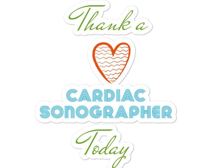 Cardiac Sonographer- Bubble-free stickers