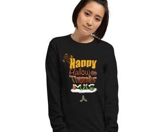 Adult Happy Holidays Long Sleeve Shirt, Halloween, Thanksgiving, Christmas