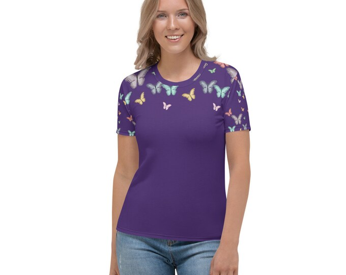 Butterflight Purple Women's T-shirt