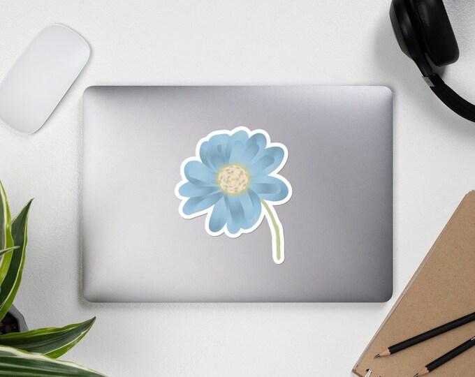 Blue Flower Bubble-free sticker