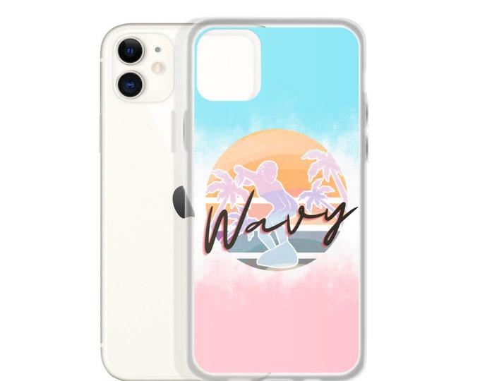 Pastel 80s Vibes Surfer iPhone Case