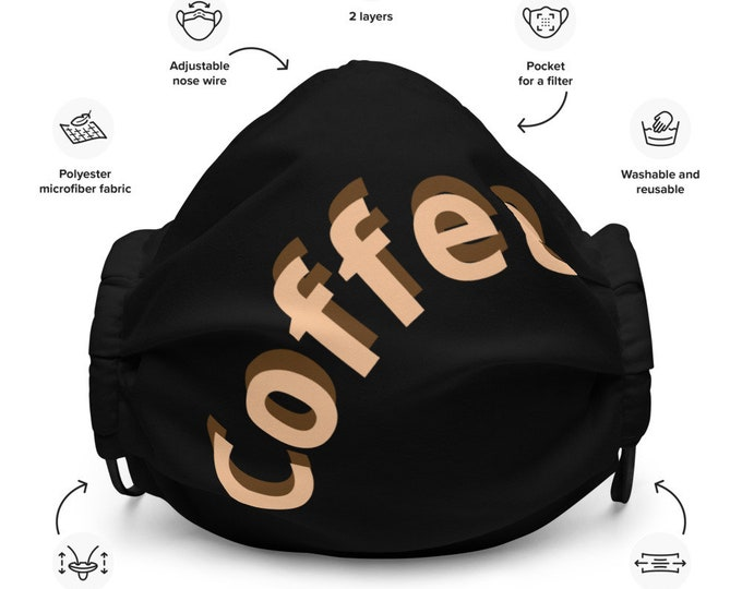Coffee lovers' - Premium face mask