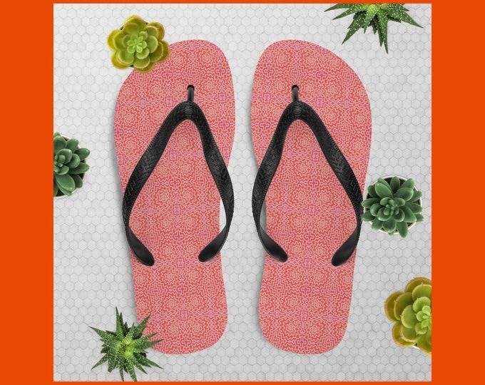 Pink Flip-Flops - Tropical Swirl
