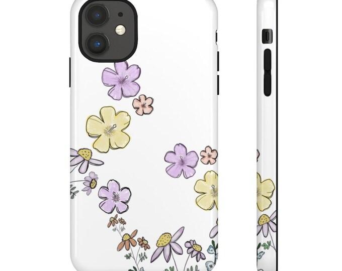Tough but Floral iPhone Case