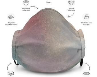 Cosmic Rainbow Premium face mask