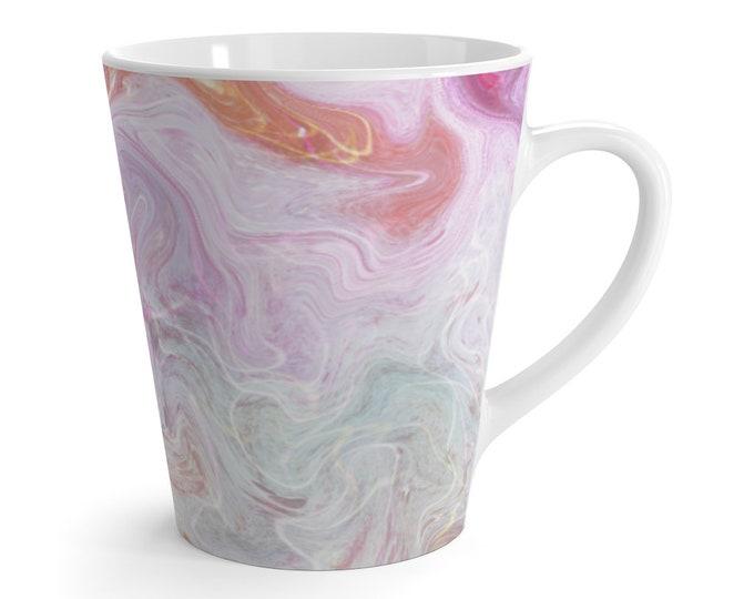 Pink Marble Swirl Latte Mug