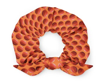 Spicy Polka Dotted Scrunchie with removable bow