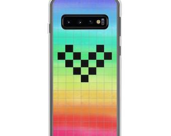 Pride Pixel Grid Samsung Phone Case