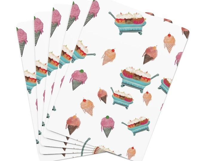 Ice Cream Party Design Poker Cards