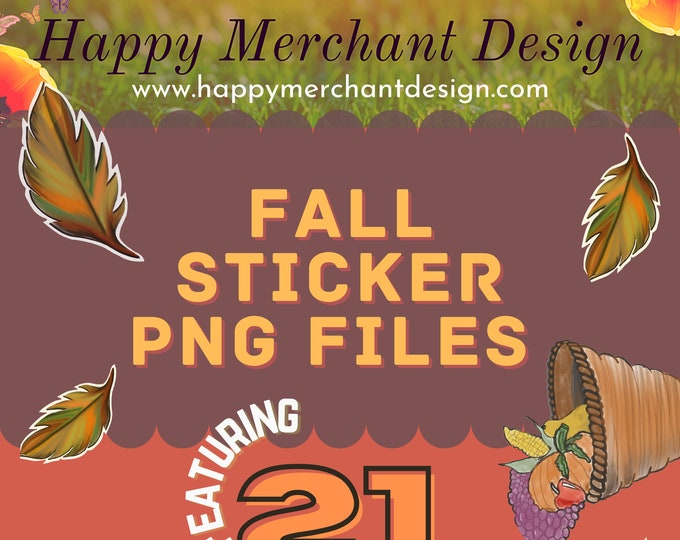 Fall Sticker PNG files, 21 custom designs, 27 stickers, Halloween stickers, Fall stickers, Frankenstein's Daughter, Fall Beverages