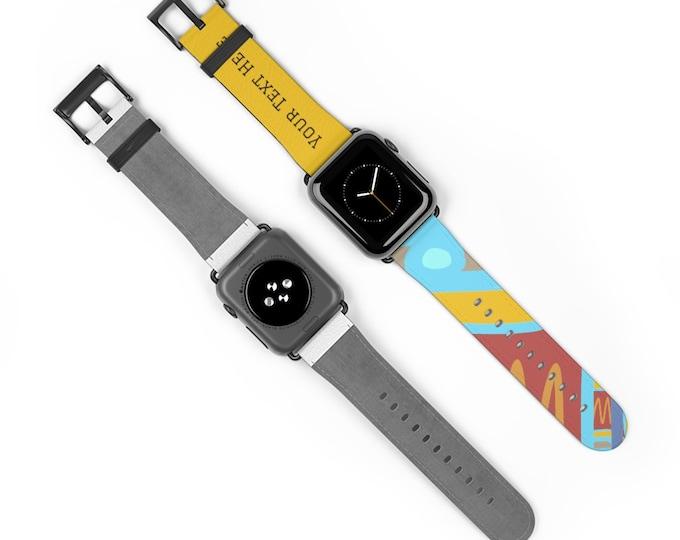 Geometric Multicolored Watch Band