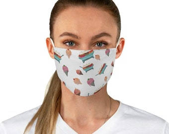 Ice Cream Party Themed Fabric Face Mask