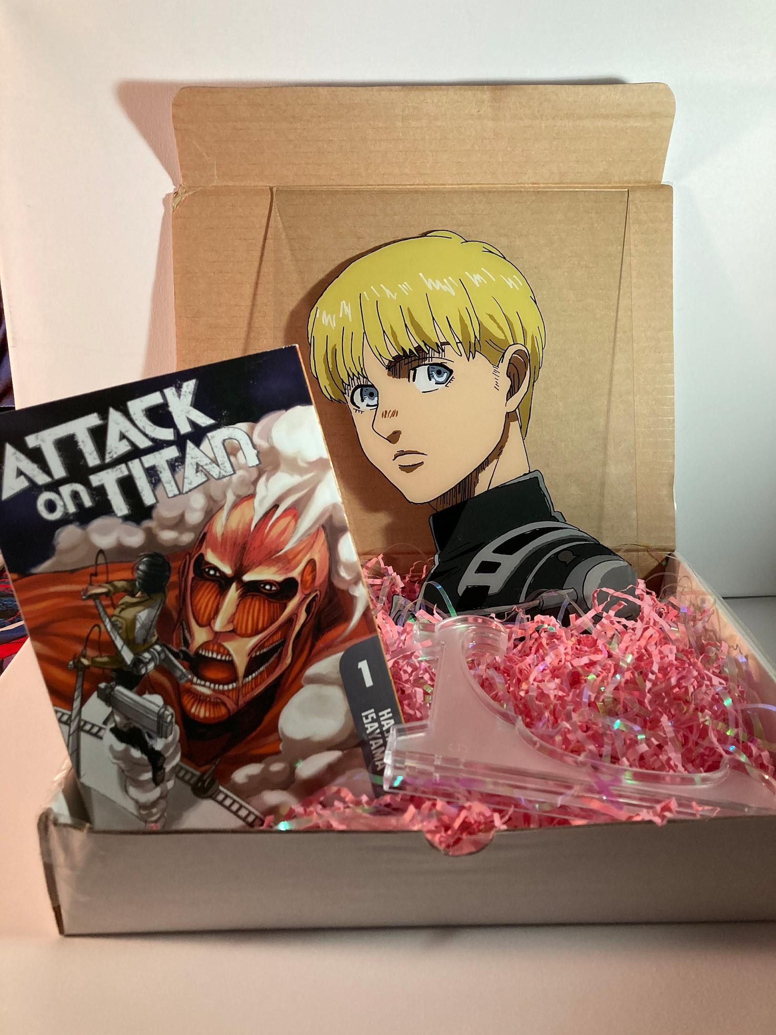 Attack on Titan Gift Box w/ Random Manga Glass Painting   Etsy