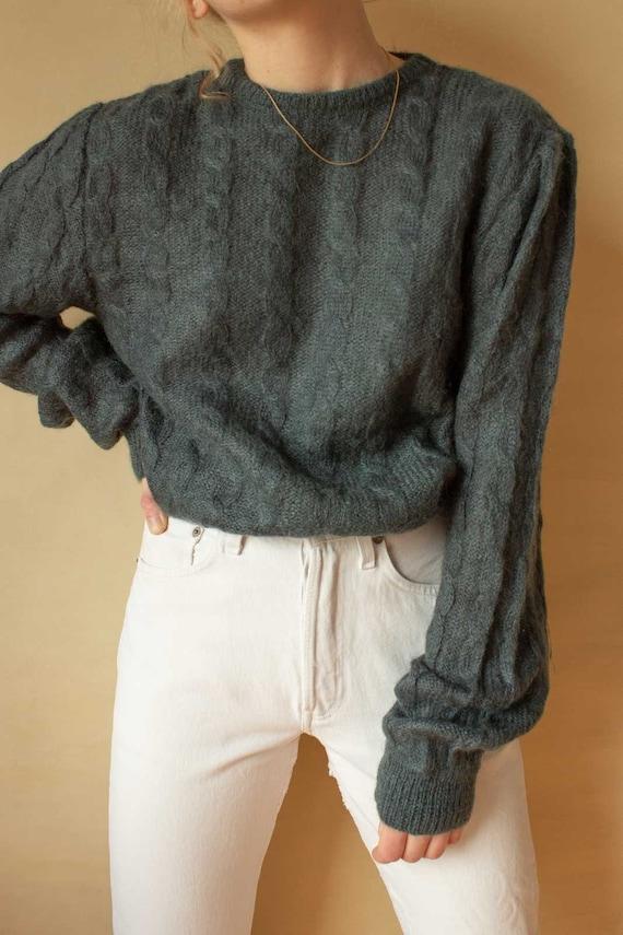 Sweater Sweater Wool Sweater Mohair Wool Knit Swea