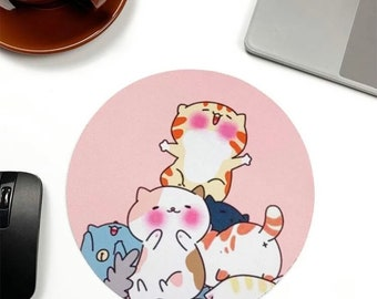 Cat Mouse Pad Cute Cats Print Office Gift Mouse Mat Animal Mouse Pad Cat Print Mousepad Mousemat Birthday Gift Desk Accessories UK Seller