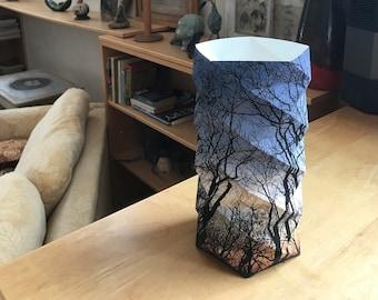 Forest Sunset Geodesic Lantern