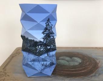 Snowy Landscape Geodesic Lantern