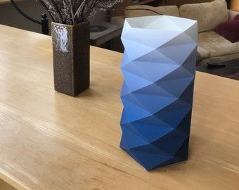 Blue Fade Geodesic Lantern