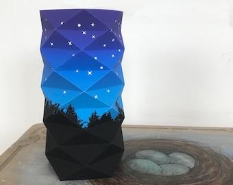 Trees & Stars Geodesic Lantern