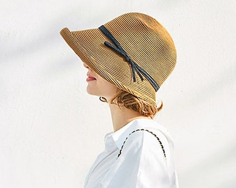 Straw Hat with Wide Brim, Summer Hat, Foldable hat, Sun hat, Beach hat, Straw Beach hat, Sun hat women, Straw hat women, Vacation Hat