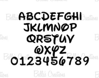 Disney font Walt disney font disney letters