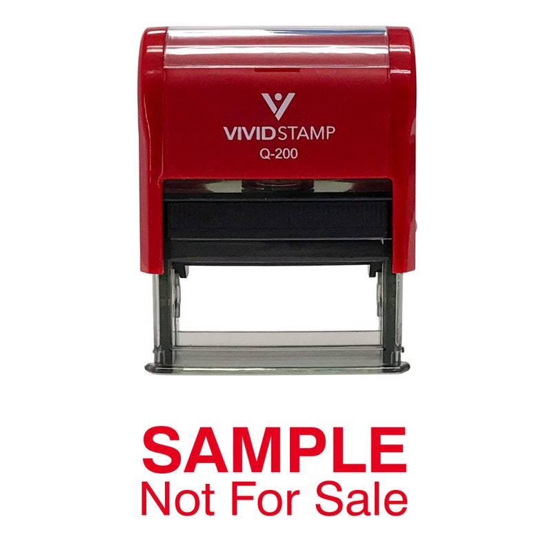 Sample Not For Sale Self Inking Rubber Stamp