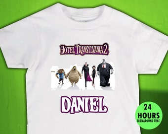 New Personalized Character Hotel Transylvania Birthday Shirt