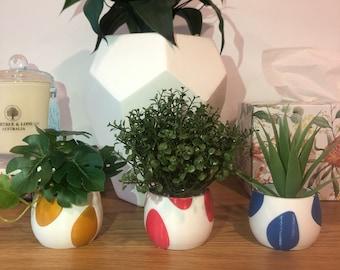 3x Mini Yoshi Egg Pots