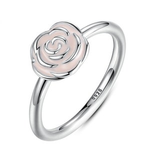 2019 Spring Release 925 Sterling Silver Rose Gold Flower Crown Ring With Clear CZ Rings Women Fine Jewelry