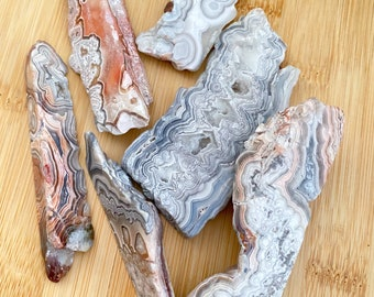 Crazy Lace Agate Polished Slices, crazy lace agate pieces, crystals, stones, polished stones, healing stones, reiki, Crystal healing