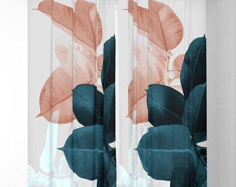 Stripes Curtain Panel Painterly Stripe Abstract Custom Curtain Panel by Spoonflower Pink Blush by