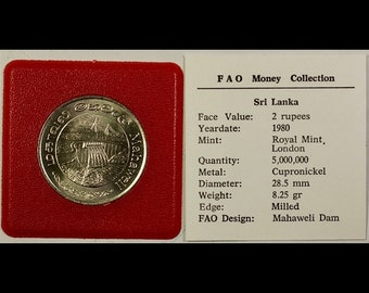 1976 Bostwana 25 Thebe FAO Weltsamlung coin In Plastic Bag With Full Description