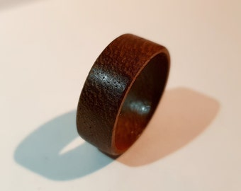 unfinished flat thick wood circle ring 34mm 20 wooden rings