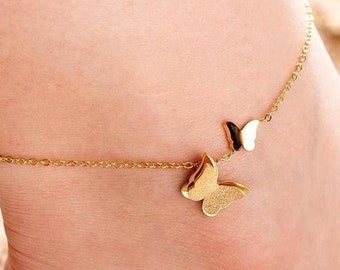 Dainty Butterfly Anklet