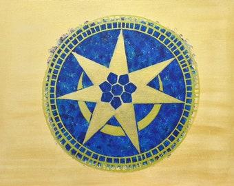 The 'Crop Circle 2016' Painting - Print of Original Painting