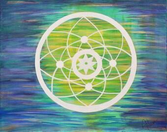 The 'Crop Circle' Painting, Print of Original Painting
