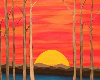 The 'Sunset' Painting - Print of Original Painting