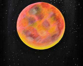 The 'Blood Moon - Print of Original Painting