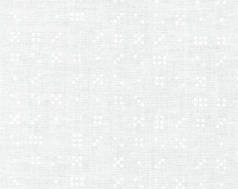Violet Craft Modern Classics - White (sold in 1/2 yard increments)