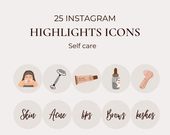 Skin hair body story highlight | Beauty treatment Instagram template | Self care treatment Instagram cover | Grey pink skin Instagram icon