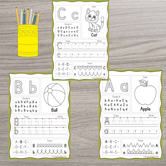 Upper & Lowercase Alphabet Printable Worksheets for Preschool