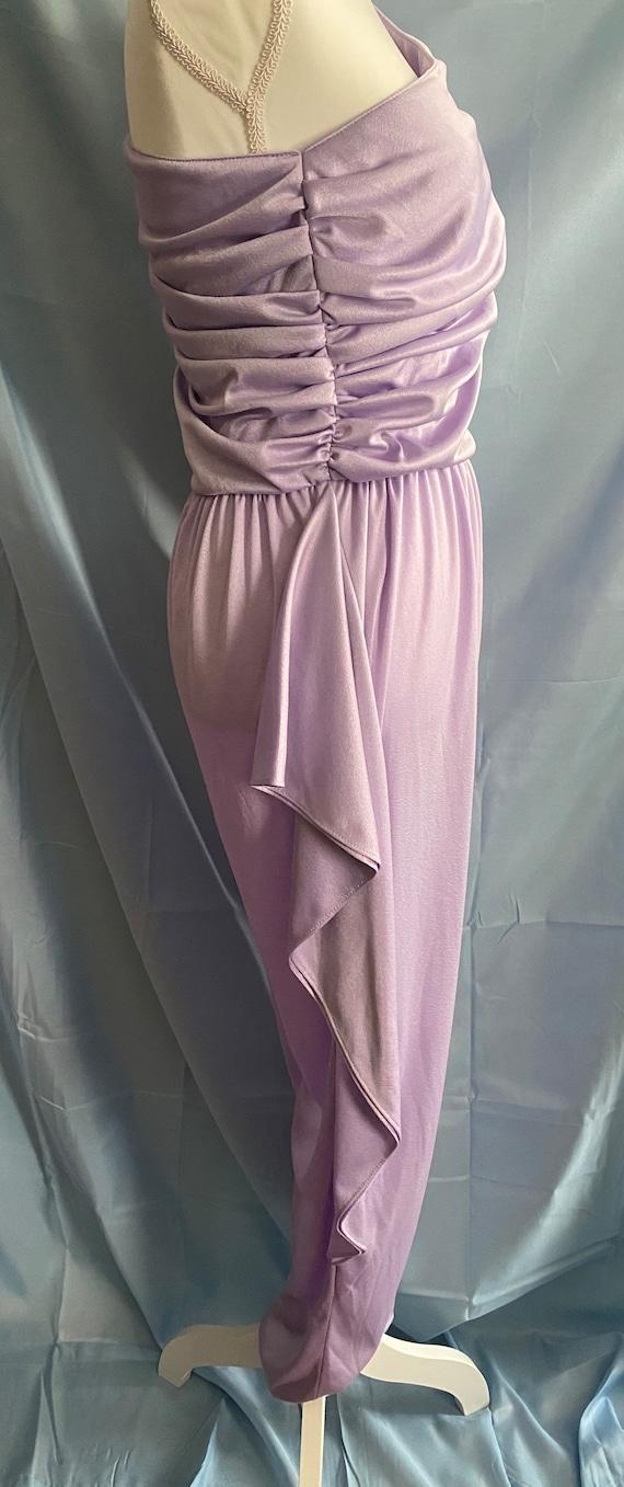 80's vintage lilac pastel purple ruffle one piece… - image 6