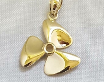 10K Propeller Wings Insignia WWII Sweetheart CharmPendant Yellow Gold