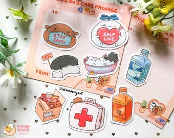 Care Package Sticker Pack   Vinyl Stickers   Sticker Set   Laptop Decal   Gift Ideas
