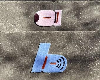 Letter Rug - Hand Tufted Rug - Handmade - Tufting - Small Rug - Large Rug - Tufted Artwork - Wall Hanging - Wall Art